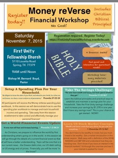 Money reVerse Financial Workshop