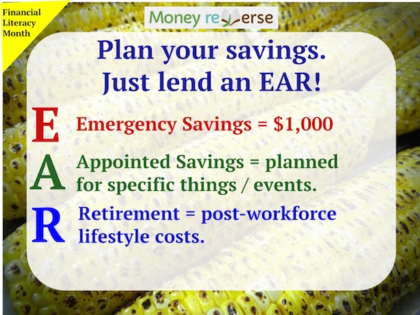 Savings types: emergency, appointed and retirement